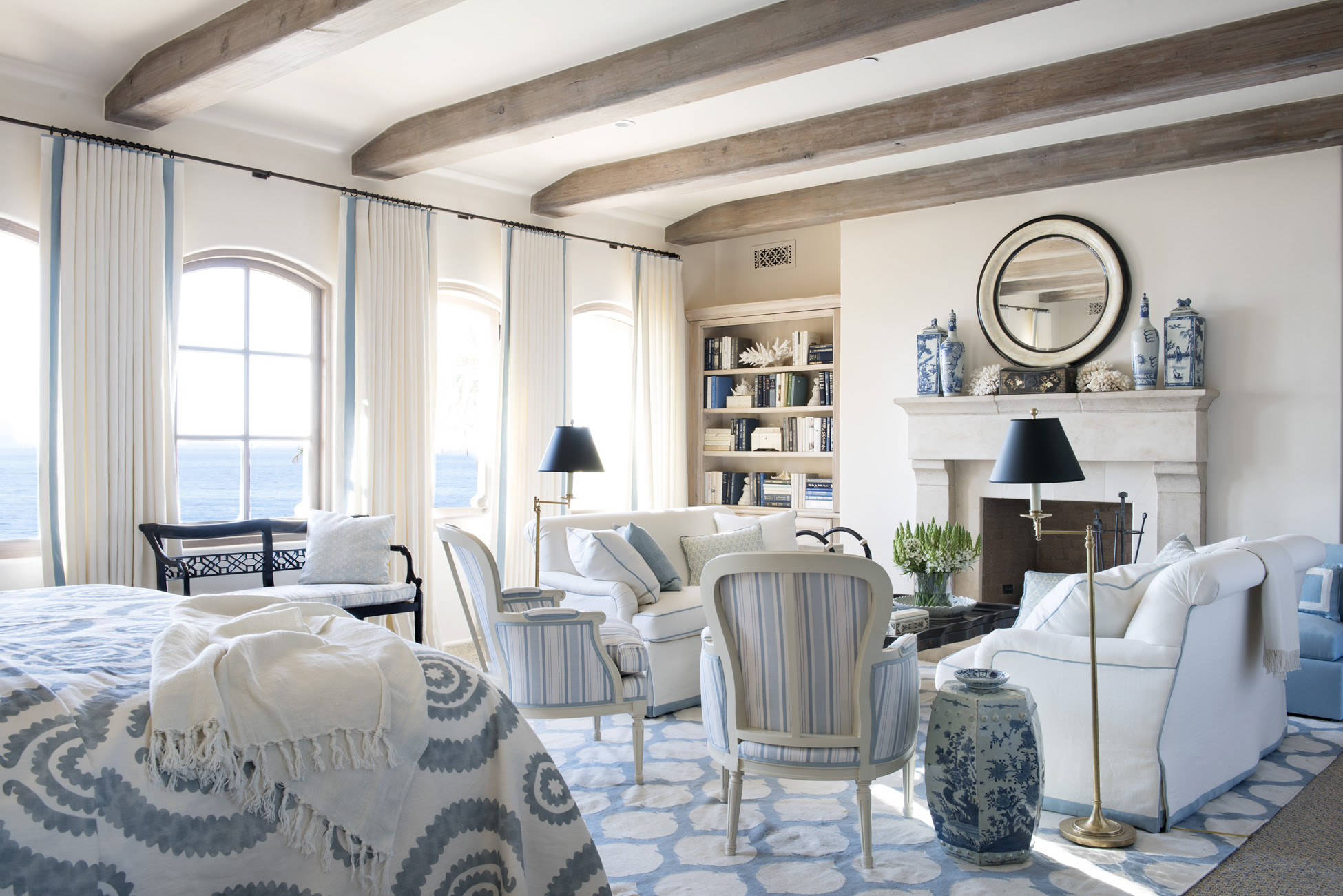 Blue and White Rooms - Decorating with Blue and White