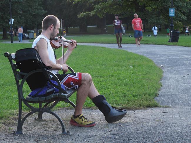 Violinist, Prospect Park