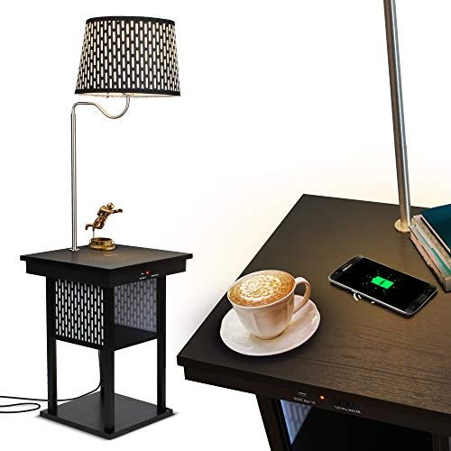 Madison LED Floor lamp with Wireless Charging Pad & USB ...