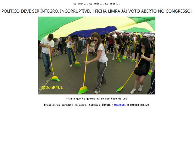 Blog do Planalto é hackeado (Foto: Reprodução)