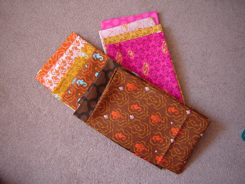 New to my stash - 10 fat quarters of Mendocino