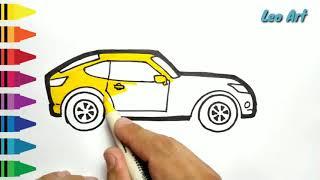 All Clip Of Menggambar Mewarnai Mobil Keren Bhclipcom