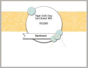 Paper Craft Crew Card Sketch 193