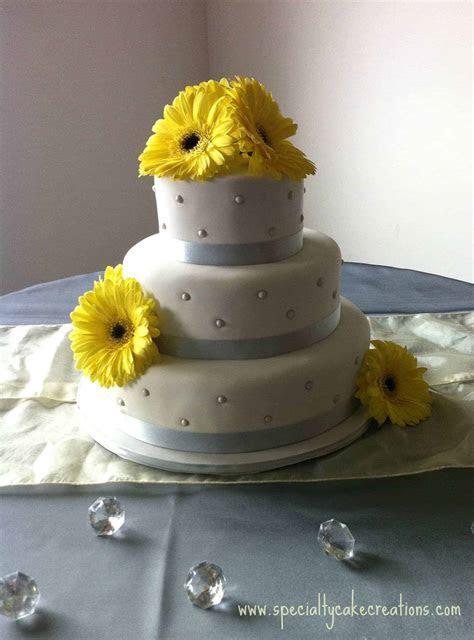 Yellow Gerber Wedding Cake