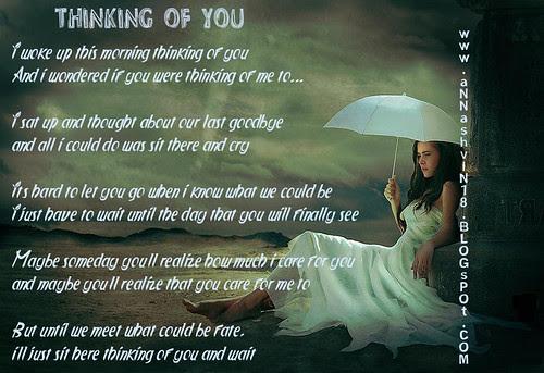 Thinking of you poem