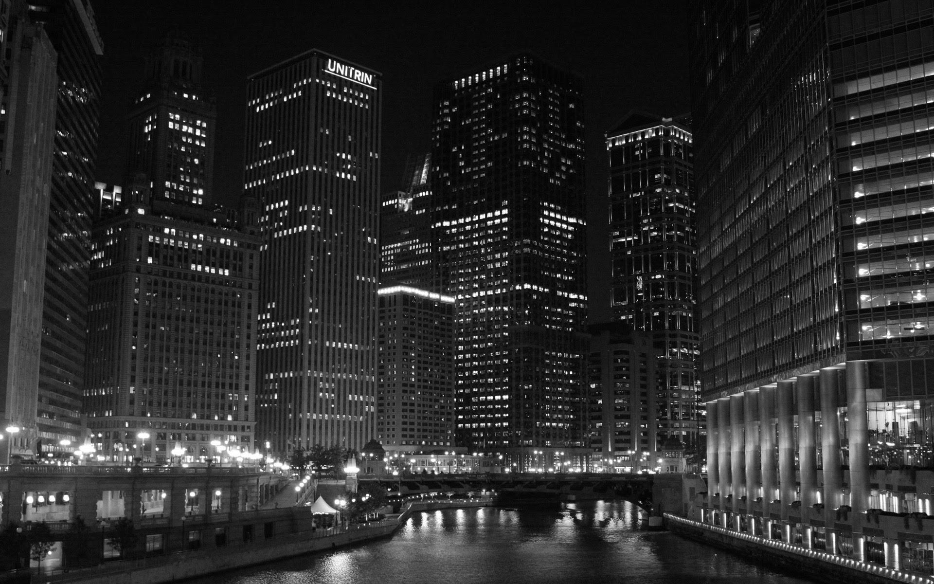 Chicago Black And White Background Hd Wallpaper Garreco Dental