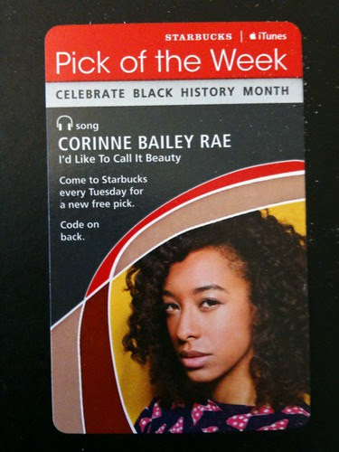 Starbucks iTunes Pick of the Week - Corinne Bailey Rae - I Would Like To Call It Beauty #fb