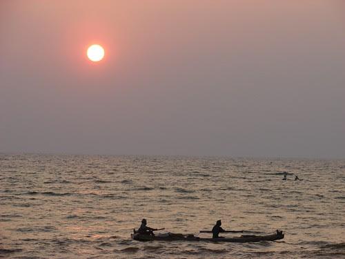 Sunset at Shanmugham Beach, Trivandrum