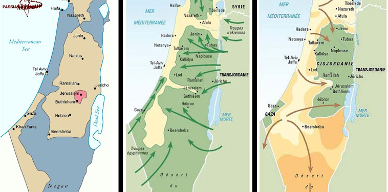 Israel Map 1948 And Today
