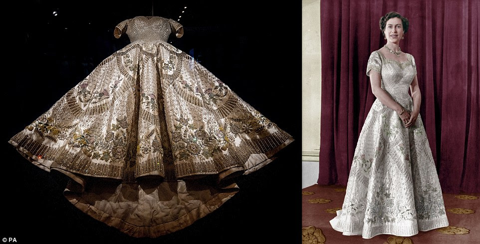 The Coronation Dress of Queen Elizabeth II designed by Norman Hartnell in 1953, which took eight months to design and create