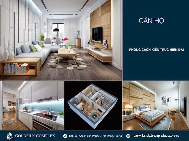 thiết kế căn hộ Goldsilk Complex