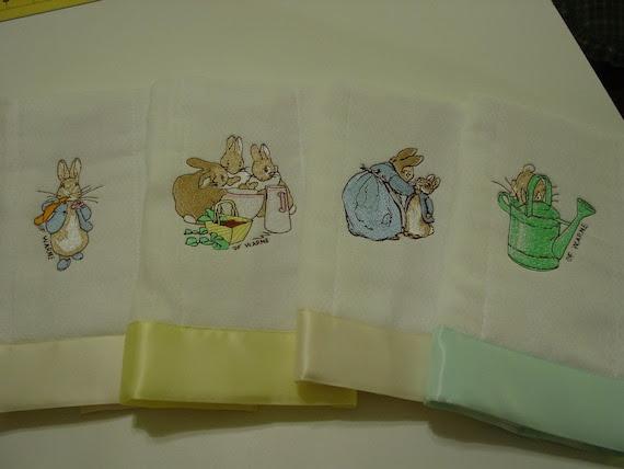 Beatrix Potter's Peter Rabbit baby burp cloths