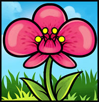 How To Draw Flowers Drawing Tutorials Drawing How To Draw Flowers Blossoms Petals Drawing Lessons Step By Step Techniques For Cartoons Illustrations