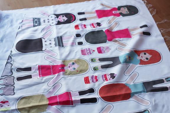 dolls fabric panel