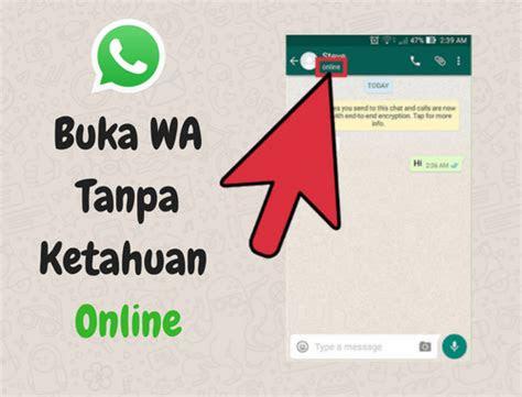 whatsapp tidak terlihat  oleh  lain