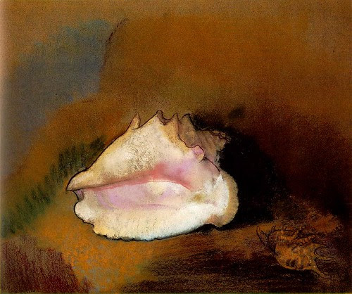La coquille (The Seashell), 1912, Odilon Redon,  Pastel on paper, 51 x 57.8 cm