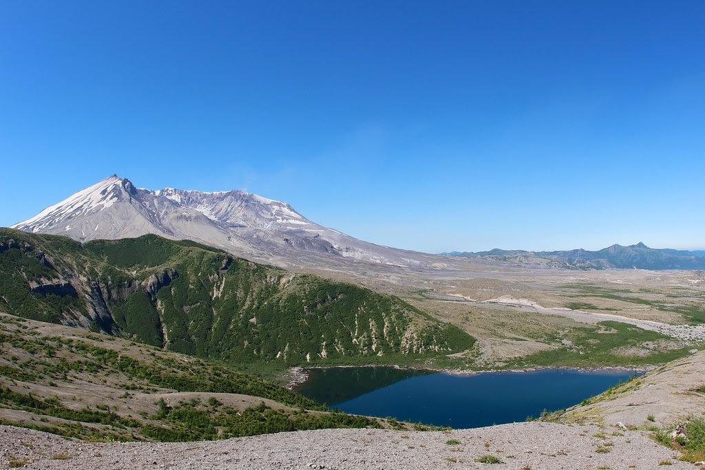 Mount St Helens and Nose of Spirit Lake