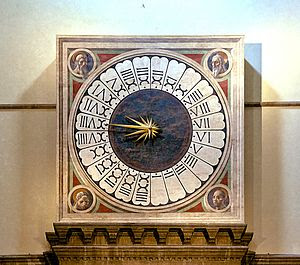 A clock with a 24-hour dial.