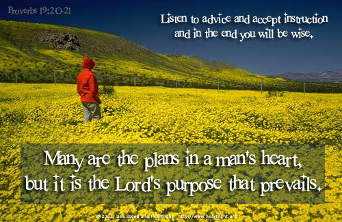 Inspirational illustration of Proverbs 19:20-21