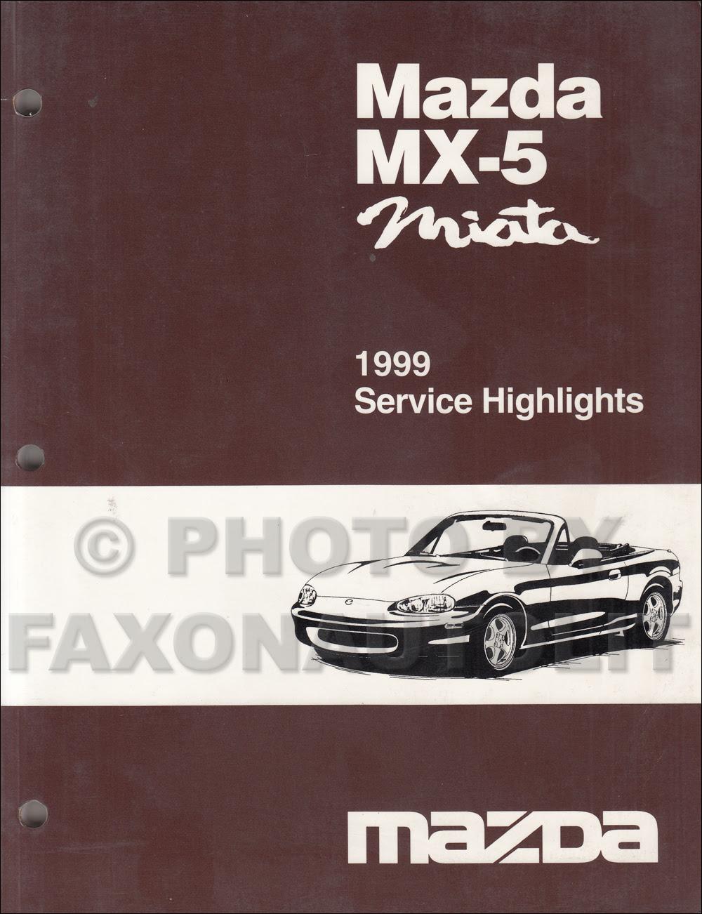 A89ec22 Mazda Mx5 Mx 5 2000 Repair Service Manuals Wiring Library