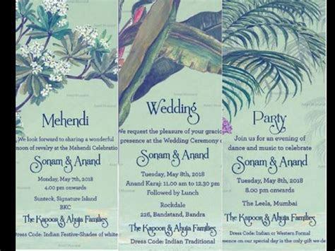 Sonam Kapoor Wedding Invitation Card Gets Leaked