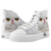 Cat Zipz High Top Sneakers, Printed Shoes Shoes