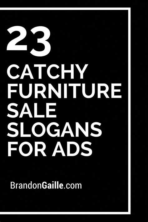 23 Catchy Furniture Sale Slogans For Ads in 2020