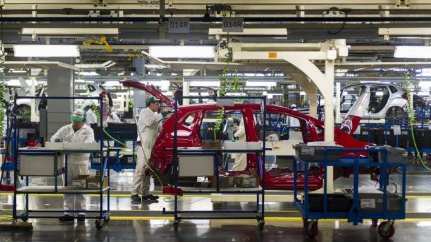 Planta de producción automotriz en México