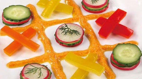 как оформить детское блюдо