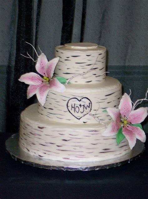 Birch Cake   Rustic Wedding Chic