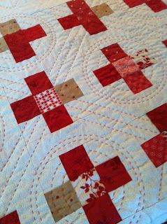 Minick & Simpson: big stitch quilting of Nightingale.....