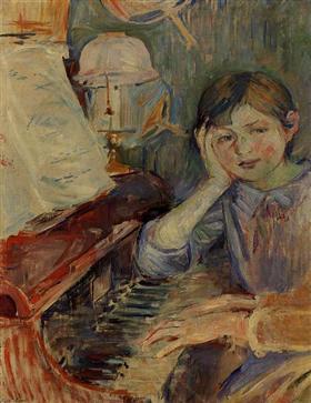 Julie Listening - Berthe Morisot