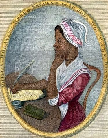 portrait of African American poet Phyllis Wheatley