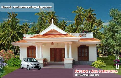 kerala style single floor house plan  sq ft