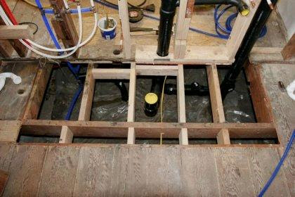 Trimming the Joists to Create a Lowered Floor | How To ...