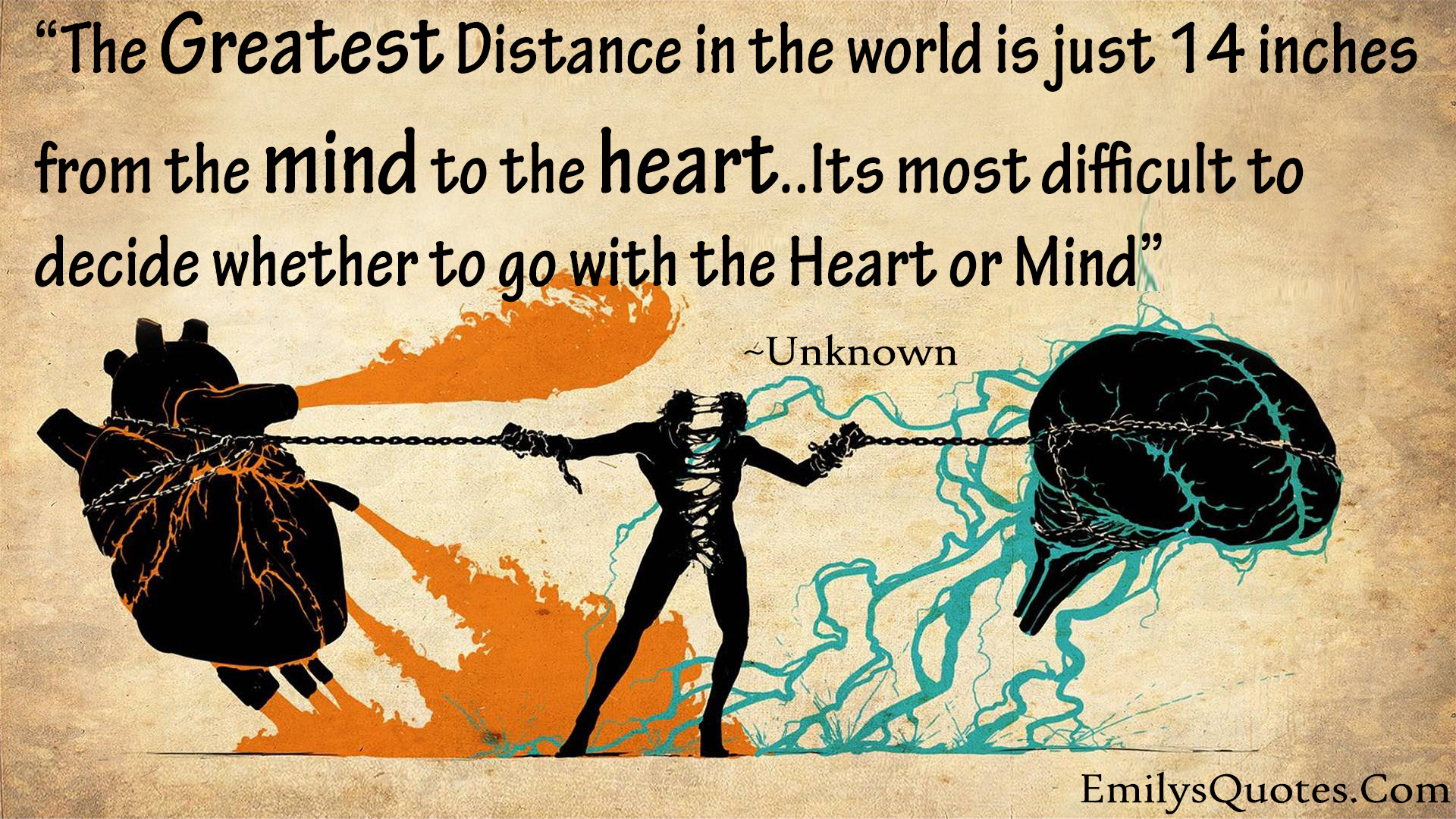 The Greatest Distance In The World Is Between Mind Heart Small