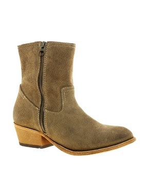 Image 1 of H by Hudson Riley Double Zip Mid Heel Boots
