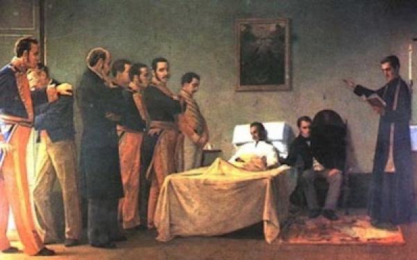Se cumplen 183 años años de la muerte del Libertador, Simón Bolívar