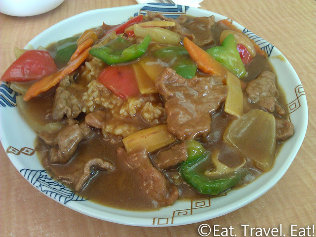 May's Cafe- Arcadia, CA: Curry Beef on Rice