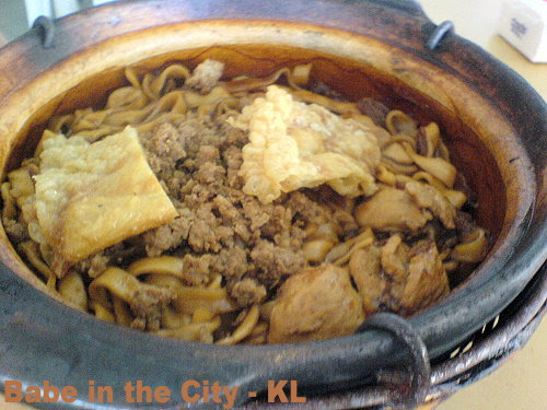 Dry Style Claypot Sang Meen (Fresh Noodles)