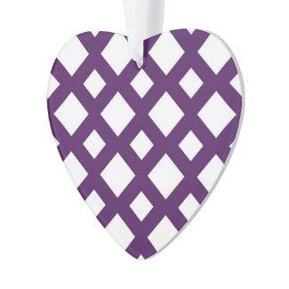 Purple Lattice on White
