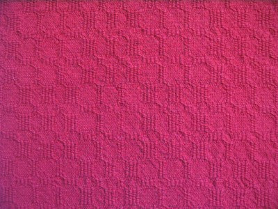 Red for both warp & weft.