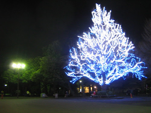 Christmas decoration outside Ueno Park