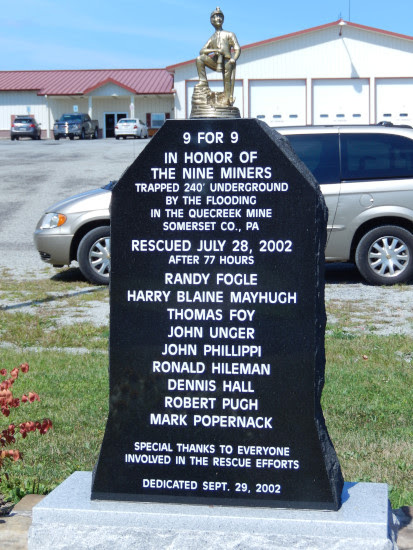 Monument at fire company
