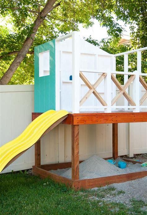 spielhaus mit sandkasten selber bauen von heimwerker