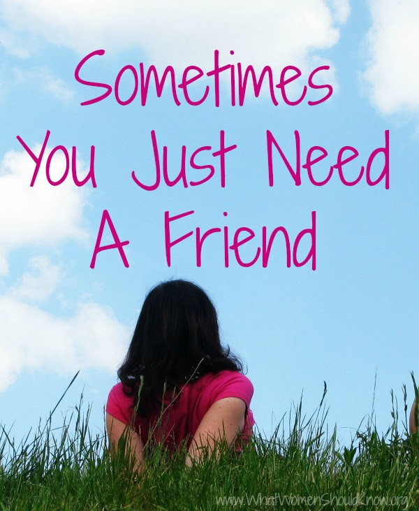 Sometimes You Just Need A Friend Christin Ditchfield