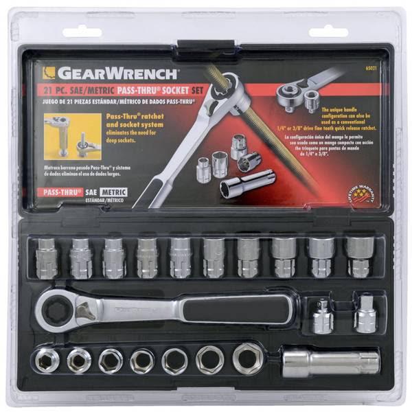 Gearwrench Sae Mm Pass Thru Socket Set