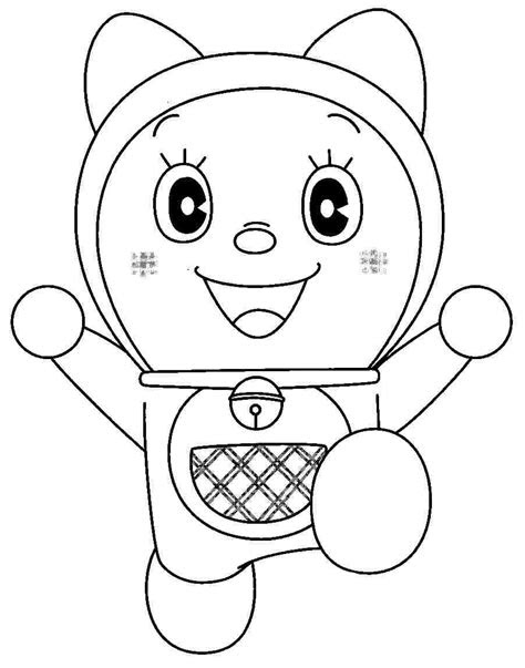 coloring sheets cartoon doraemon gian printable