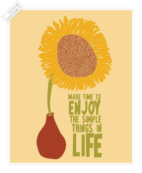 Make Time To Enjoy The Simple Things In Life Life Quote Quotezco