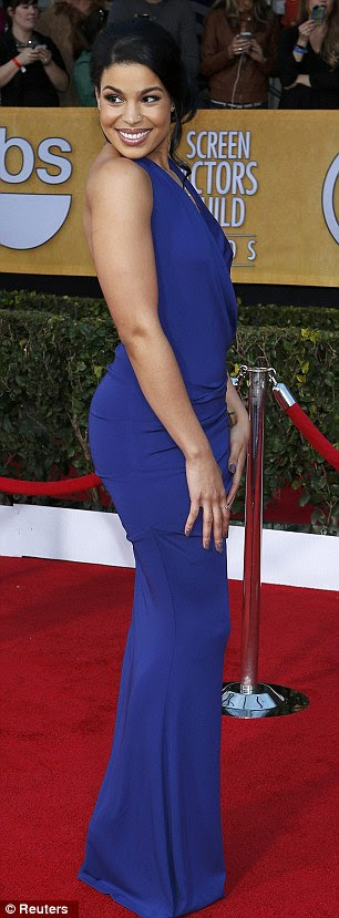 Showing off her bum: Jordin posed strategically for the cameras